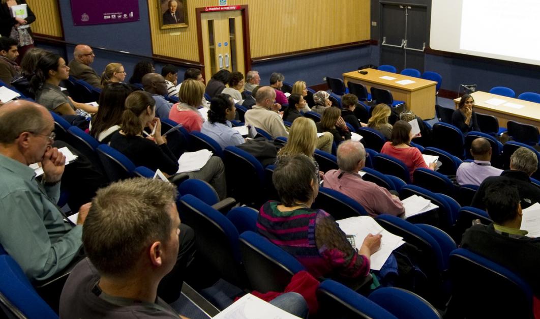 students in Auditorium