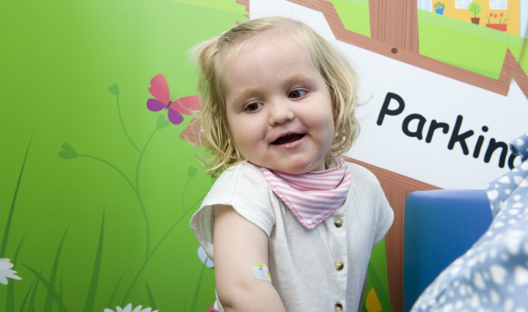 Two-year-old Charlotte Stevenson received larotrectinib as part of the SCOUT trial