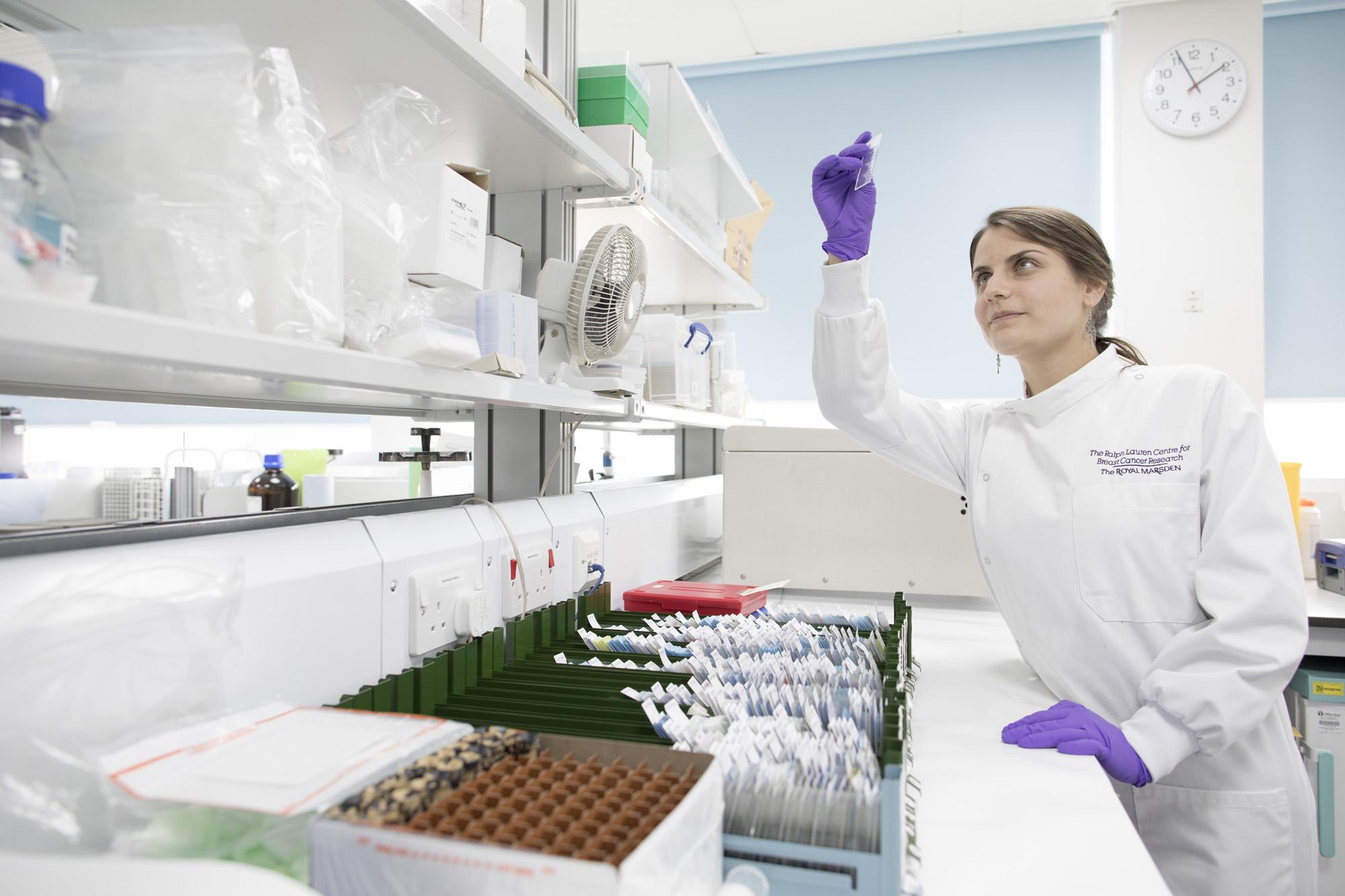 Scientific Officer working in lab
