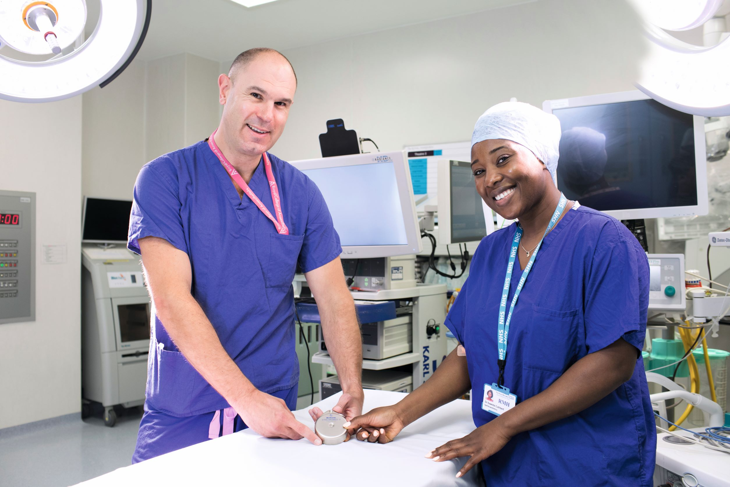 Dr Matt Brown and Dr Saweda Cuthbert