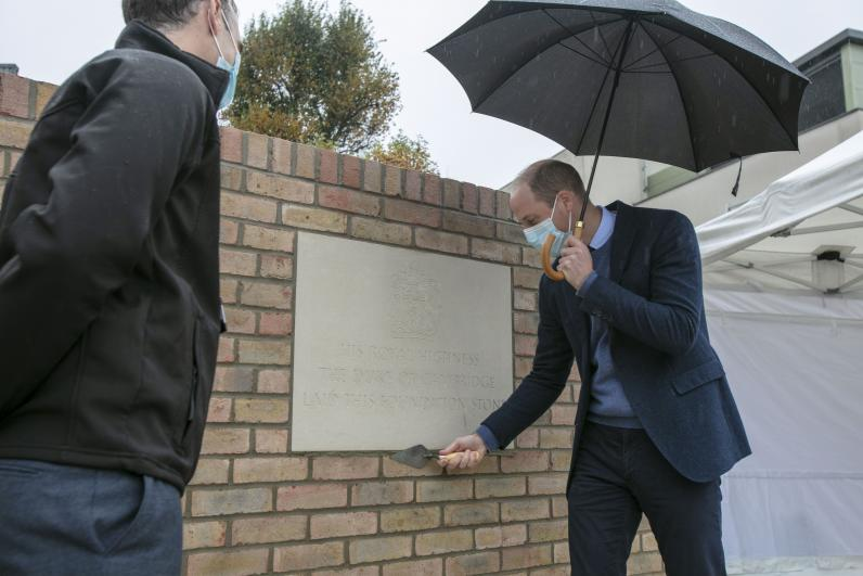 HRH The Duke of Cambridge lays foundation stone for the Oak Cancer Centre