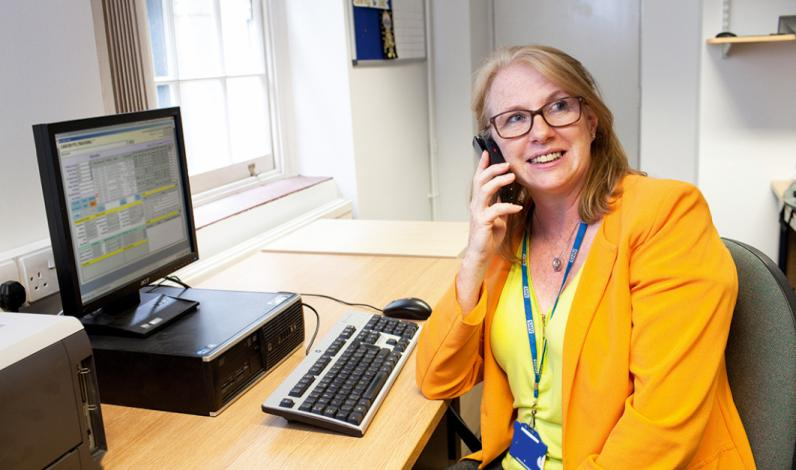Multidisciplinary Team and Waiting List Manager Jennifer Hunt at work
