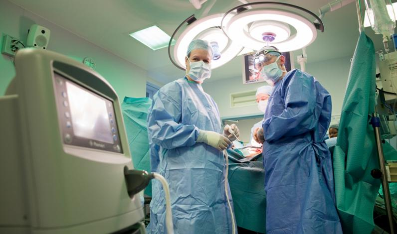 The PlasmaJet in action during surgery