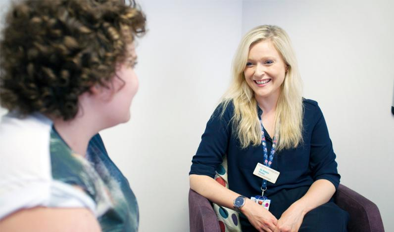 Dr Emma Porter, Clinical Psychologist in the Paediatric and Teenage Psychological Support Service