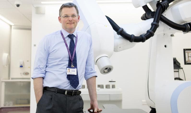 Dr Nicholas van As with CyberKnife