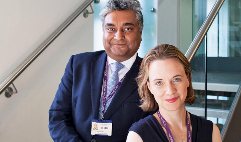 Dr Sanjay Popat and Dr Fiona McDonald of The Royal Marsden