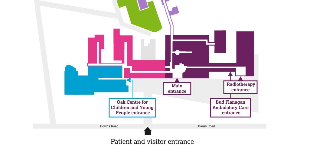 Sutton: Patient and visitor entrance