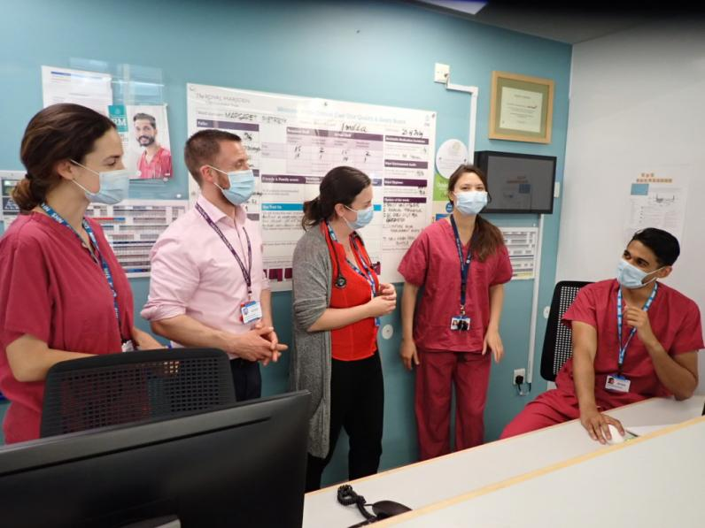 The intensive care and palliative care specialist teams at The Royal Marsden discussing ICU Triggers
