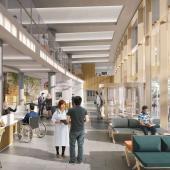 CGI image of the Oak Cancer Centre