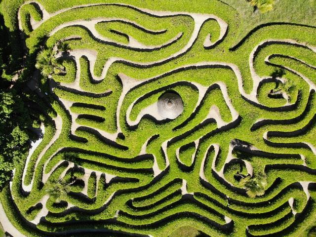 Benjamin Elliott - green and white maze